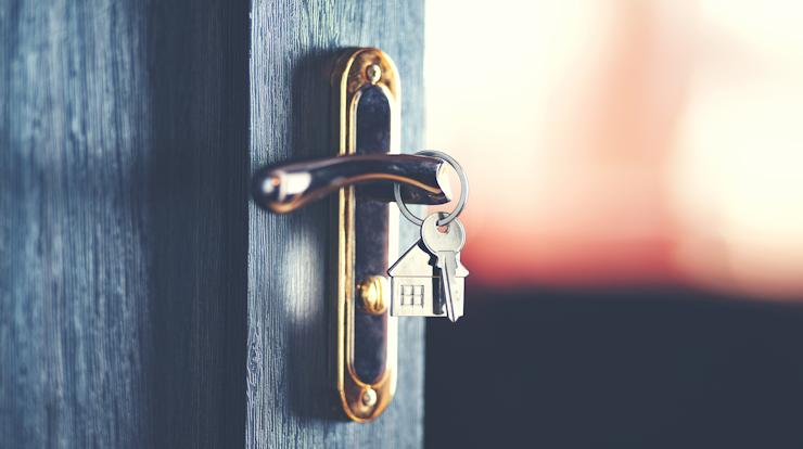 Front door knob and keys